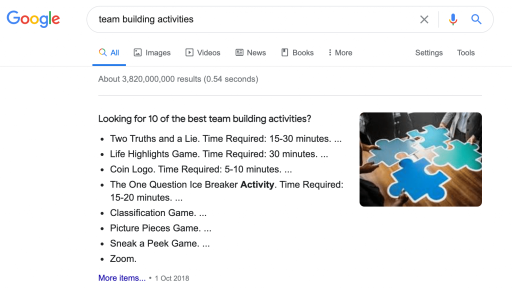 People mix up team building with social activities